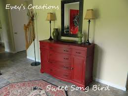 painted red furniture. Hallway Console Redo By Sweet Song Bird Painted Red Furniture