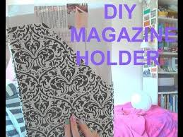 Purple Magazine Holder how to make a magazine holder DIY tutorial YouTube 98