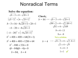 solving radical equations with rational