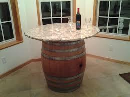 Wine Barrel Kitchen Table Granite Top With Rough Cut Edge Wine Barrel Table Ideas