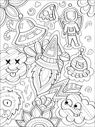 e doodle coloring page stock vector ilration of drawing book colouring books for s kids eship rocket ast