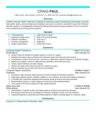 Best Computer Repair Technician Resume Example Livecareer Computers