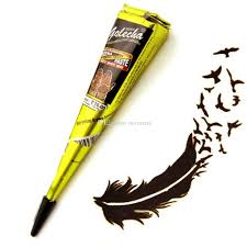 henna cones indian tattoo paste black brown red white for temporary body art sticker mehndi paint