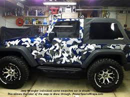 jeep wrangler camo decals individual swatches you apply where you want just l and stick