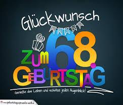 Sprüche Zum 68 Geburtstag Karte Mit Schönem Spruch Zum Nachdenken