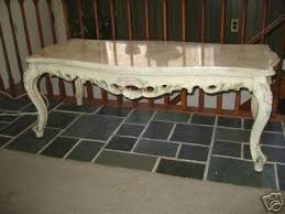 italian french provincial marble top