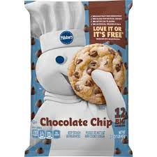 Make sure the kiss does not get too soft. Pillsbury Big Deluxe Chocolate Chip Cookie Dough With Hershey S Mini Kisses 16oz 12ct Target