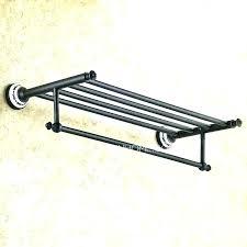 brushed nickel glass shelf with towel bar shelves rack bars double b