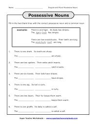 Singular Possessive Nouns Worksheet | Homeschooldressage.com