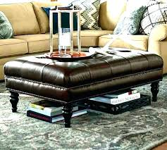 large round leather ottoman coffee table black