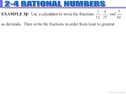 Fractions From Least To Greatest Chart Chapter 02 Section 04 Rational Numbers Ppt Video Online
