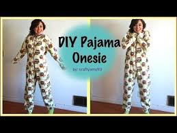 Adult Onesie Pattern Interesting DIY Pajama Onesie YouTube