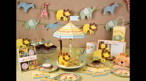 Jungle Theme Decorations Jungle Themed Baby Shower Decorations Ideas Youtube