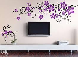bedroom wall stencils design photo - 4