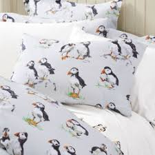 Puffins Flannel Pillowcases - Pair