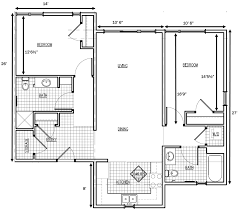 Two Bedroom Floor Plans  Plant ZeroApartments Floor Plans 2 Bedrooms