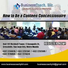 How To Be A Canteen Concessionaire Seminars Workshops Metro
