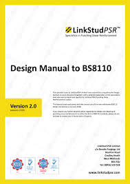 Rebar Design And Detailing Data Chart Design Manual To Bs8110