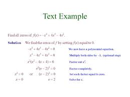 text example find all zeros of f x x4 4x3