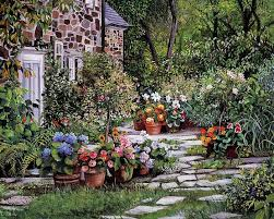 98 Best English Cottage Gardens Images On Pinterest  Landscapes Romantic Cottage Gardens