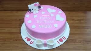 Tanpa Spuit Cara Membuat Kue Ulang Tahun Hello Kitty Cake Simpel
