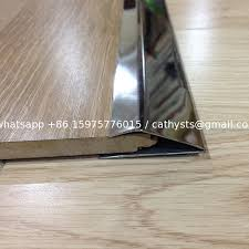 china stainless steel metal floor strip trim edges brushed finish tile trim supplier