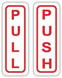 pull door sign. Simple Pull Image Is Loading PUSHPULLDoorSign034Sizes034Sticker On Pull Door Sign C