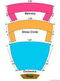 Farm Bureau Live Seating Chart With Rows And Seat Numbers Chrysler Hall Seating Chart Chrysler Hall