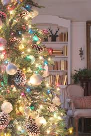 Ornaments And Lights Wonderful Decorating Idea For The Christmas Tree White