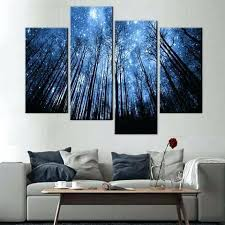 large 3 piece wall art blue forest with starry sky large 3 piece framed wall art on large 3 panel wall art with large 3 piece wall art gefcit fo