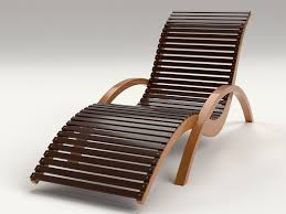 wood lounge chairs. Lounge Chair Outdoor Wood Patio Deck 3d Model Chairs