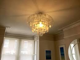 large capiz shell light fitting central chandelier free smaller