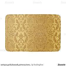 gold bath rugs antiquegolddamaskpatternvintageflchic bath mats antiquegolddamaskpatternvintageflchic bath mats