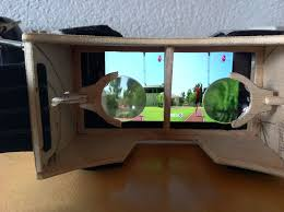 picture of diy 3d head mounted display using your smartphone