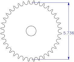 Sprocket Diameter Calculator