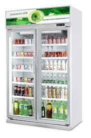 single glass door beer cooler fridge soft drink upright display chiller for convenience