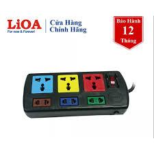 Ổ cắm điện LiOA 3D3S32 chính hãng có nắp che dây dài 5 mét Đen - Ổ cắm điện