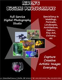 How To Make A Digital Flyer Digital Photography Flyer Tutorials Design And Make Flyers