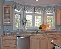 bay window kitchen valances fresh curtains for windows ideas