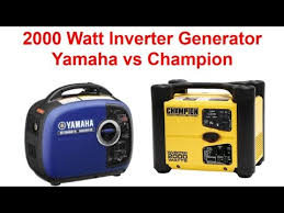 yamaha inverter generator 2000. champion vs yamaha inverter generator 2000 watt comparison reviews (2017)