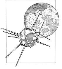 Luna 2 Rusland 1959 Crashte Op De Maan Kleurplaat Jouwkleurplaten
