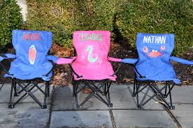 customized folding chairs. Personalized Child\u0027s Beach Chair Camp W Umbrella Portable Kids Folding Chairs Customized