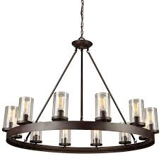 artcraft ac10002 menlo park modern dark chocolate chandelier light loading zoom