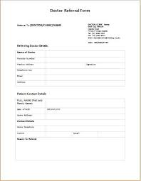 Referral Form Template Word Doctor Referral Form Templates Printable Medical Forms Letters