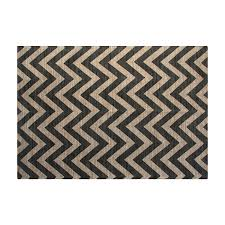 chesapeake 46840 grey chevron jute cotton printed area rug