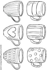 Coffee Cup Coloring Page Printable Coffee Cup Coloring Page Of