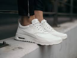 nike air max thea premium white womens shoes