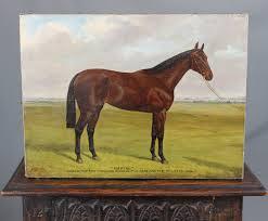 albert clark 1843 1928 famous race horse oil painting portrait sceptre