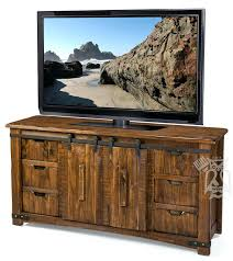 tv stand with sliding doors solid pine wood pueblo in deep brown finish electric fireplace barn