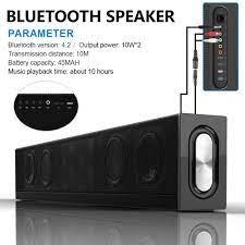 Karabale S688 20W Bluetooth Speaker Home Theater Soundbar Super Bass  Portable Wireless PC TV Speaker Subwoofer Mic|